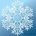 vector snowflake on blue background