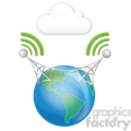 double cell tower earth clouds gif, png, jpg, eps, svg, pdf