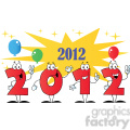 2100-2012-New-Year-Numbers-Cartoon-Characters-With-Stars-And-Balloons