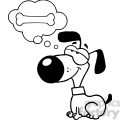 black-white-cartoon-dog
