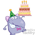 cartoon-elephant-birthday-cake