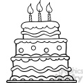 black-white-birthday-cake  gif, png, jpg, eps, svg, pdf