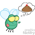 cartoon-fly-dreaming-of-poo