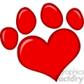 4782-Royalty-Free-RF-Copyright-Safe-Love-Paw-Print