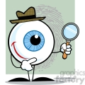 4665-royalty-free-rf-copyright-safe-smiling-detective-eyeball-holding-a-magnifying-glass  gif, png, jpg, eps, svg, pdf
