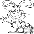 Royalty-Free-RF-Copyright-Safe-Waving-Bunny-With-Easter-Eggs-And-Basket