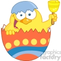 royalty-free-rf-copyright-safe-happy-yellow-chick-peeking-out-of-an-easter-egg-and-ringing-a-bell  gif, png, jpg, eps, svg, pdf