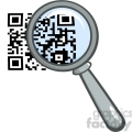 4772-Royalty-Free-RF-Copyright-Safe-Magnifying-Glass-Zooming-In-On-A-QR-Identification-Code