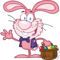 royalty-free-rf-copyright-safe-waving-pink-bunny-with-easter-eggs-and-basket  gif, png, jpg, eps, svg, pdf