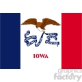 vector state flag of iowa gif, png, jpg, eps, svg, pdf
