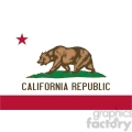 vector state Flag of California
