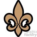 brown Fleur De Lis