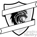 shield with lion emblem and blank ribbon gif, png, jpg, eps, svg, pdf