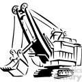 black and white heavy construction loader