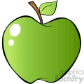 12930 RF Clipart Illustration Green Apple 12927 RF Clipart Illustration Red Apple In Gradient