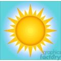 128812 RF Clipart Illustration Summer Hot Sun With Background