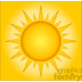 12885 RF Clipart Illustration Summer Hot Sun With Background