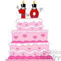 128127 RF Clipart  Illustration Wedding Cake With Number Ten Candles Cartoon Character