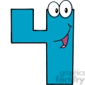 4990-Clipart-Illustration-of-Number-Four-Cartoon-Mascot-Character