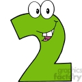 4972-Clipart-Illustration-of-Number-Two-Cartoon-Mascot-Character