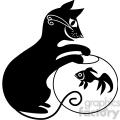 vector clip art illustration of black cat 044  gif, png, jpg, eps, svg, pdf