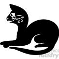 vector clip art illustration of black cat 059  gif, png, jpg, eps, svg, pdf