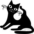 vector clip art illustration of black cat 005  gif, png, jpg, eps, svg, pdf