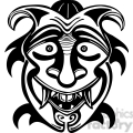 ancient tiki face masks clip art 012