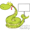 5148-Happy-Snake-Cartoon-Character-Holding-Up-A-Blank-Sign-Royalty-Free-RF-Clipart-Image