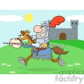 5137-Knight-Riding-Horse-Royalty-Free-RF-Clipart-Image