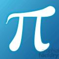 blue pi symbol