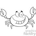 Funny Crab Cartoon Mascot Character