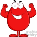clipart of strong red easter egg cartoon character  gif, png, jpg, eps, svg, pdf