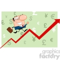 rf smiling business manager running upwards on a statistics arrow  gif, png, jpg, eps, svg, pdf