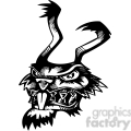 wild rabbit tattoo design