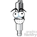 happy spark plug cartoon character