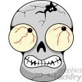 gray skull scary