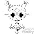 owl front view 2  gif, png, jpg, svg, pdf