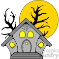 haunted house in color  gif, png, jpg, eps, svg, pdf
