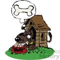 cartoon dog in a doghouse