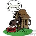 cartoon dog in a doghouse