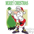 cartoon santa with ripped gift bag
