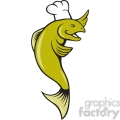 fish wearing a chefs hat  gif, png, jpg, eps, svg, pdf