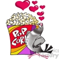 pigeon in love with a box of popcorn  gif, png, jpg, eps, svg, pdf