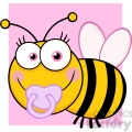 5608 Royalty Free Clip Art Baby Girl Bee Cartoon Mascot Character