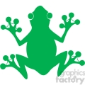 5638 Royalty Free Clip Art Green Frog Silhouette Logo