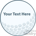 5690 Royalty Free Clip Art Golf Ball Sign
