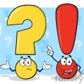 6290 Royalty Free Clip Art Question Mark And Exclamation Mark Cartoon Characters