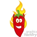 6772 royalty free clip art red chili pepper devil cartoon mascot character on fire  gif, png, jpg, eps, svg, pdf