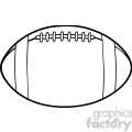 6555 Royalty Free Clip Art Black and White American Football Ball Cartoon Illustration